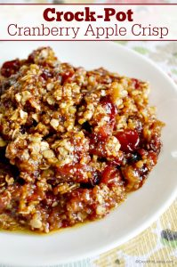 Crock-Pot Apple Cranberry Crisp