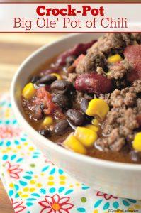 Crock-Pot Big Ole' Pot of Chili