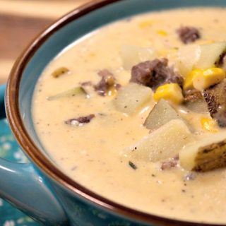 Crock-Pot Cheesy Harvest Potato Chowder