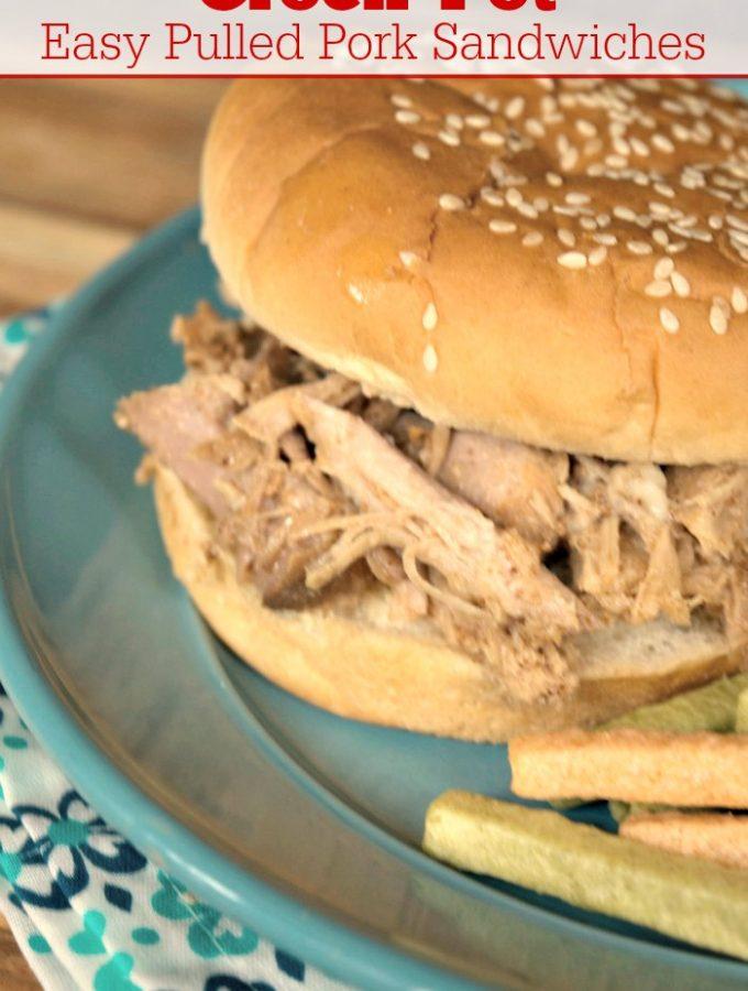 Crock-Pot Easy Pulled Pork Sandwiches