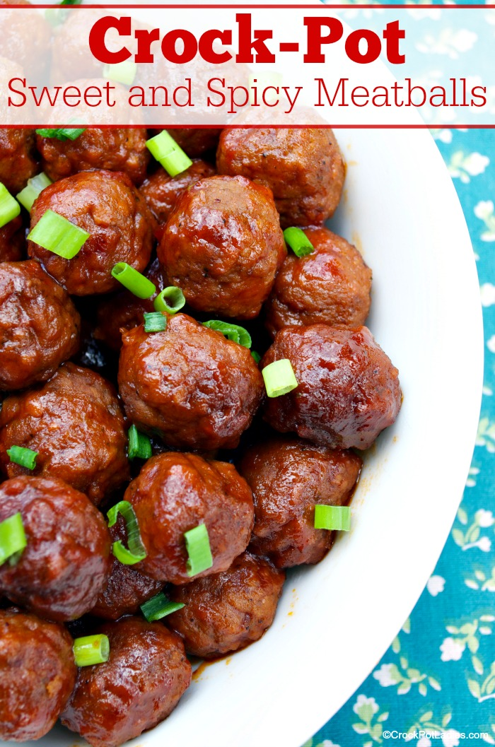 Crock-Pot Sweet And Spicy Meatballs