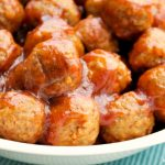 Crock-Pot Tangy Cranberry Party Meatballs - Everyone needs a good go-to meatball recipe for holidays and parties. This recipe for Crock-Pot Tangy Cranberry Party Meatballs fits that bill perfectly! Just 3 ingredients and you have tasty meatballs your guests will love! [Gluten Free, Low Calorie & Low Fat] | CrockPotLadies.com