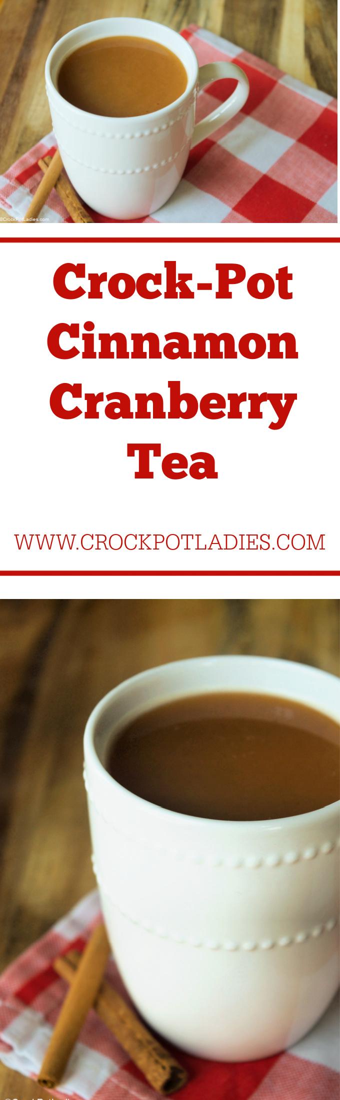 Crock-Pot Cinnamon Cranberry Tea