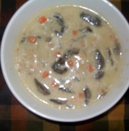 crock-pot mushroom chicken soup