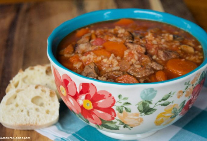 Crock-Pot Hearty Beef and Mushroom Soup