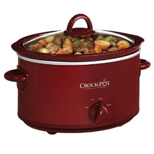 Red Crock-Pot SCV401TR 4-Quart Oval Manual Slow Cooker – $18.04