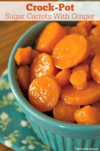 Crock-Pot Sugar Carrots with Ginger