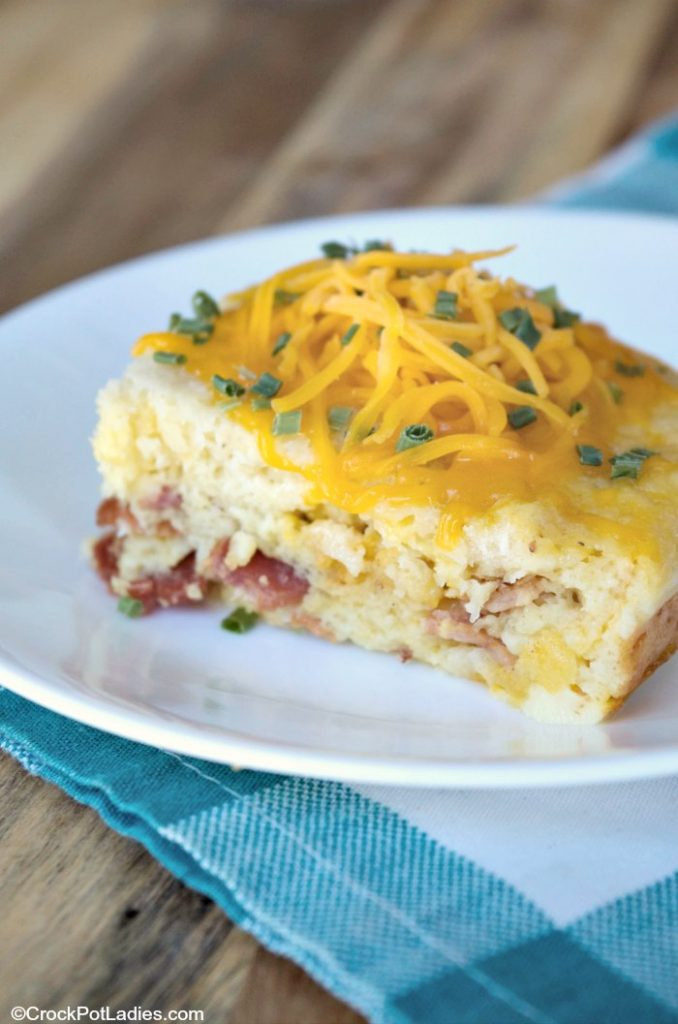 Crock-Pot Bacon & Egg Casserole