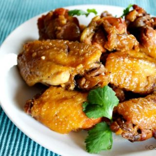 Crock-Pot Honey Garlic Chicken Wings - Sink your teeth into this delicious recipe for Crock-Pot Honey Garlic Chicken Wings! Served as an appetizer or main dish, these wings are super yummy! | CrockPotLadies.com