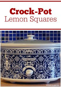 Crock-Pot Lemon Squares