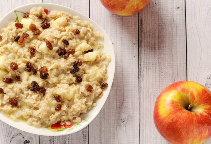 Crock-Pot Overnight Raisin Apple Oatmeal