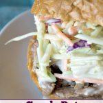 Crock-Pot Sesame Pulled Pork Sandwiches with Asian Slaw