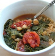 Crock-Pot Spinach and Chickpea Stew