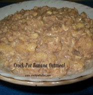 crock-pot banana oatmeal