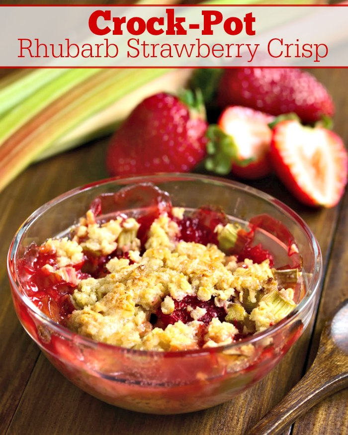Crock-Pot Rhubarb Strawberry Crisp