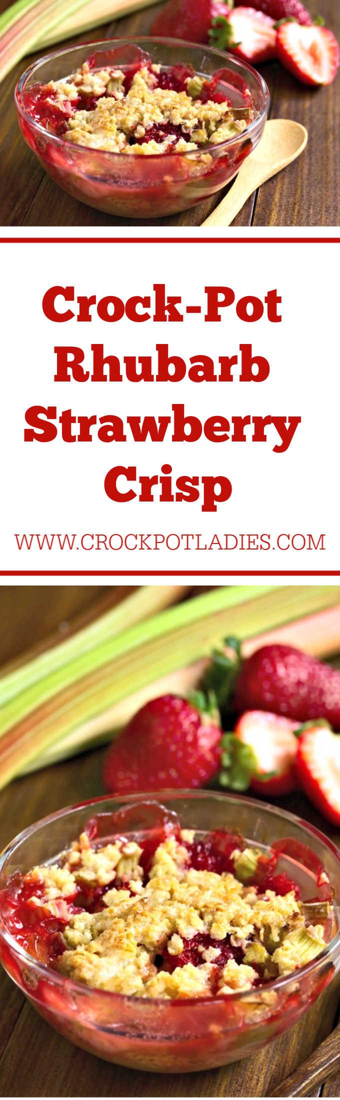 Crock-Pot Rhubarb Strawberry Crisp