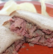 Crock-Pot Warm Pastrami Sandwich