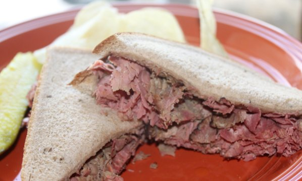 Crock-Pot Warm Pastrami Sandwich