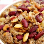 Crock-Pot Cowboy Beans - Serve these delicious and easy to make Crock-Pot Cowboy Beans for your next party, reunion or get together. This recipe serves a crowd and everyone will be asking you for the recipe! {via CrockPotLadies.com} #crockpot #slowcooker #recipes #glutenfree #highfiber #lowfat