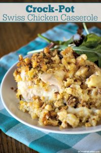 Crock-Pot Swiss Chicken Casserole