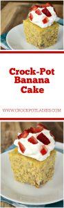 Crock-Pot Banana Cake