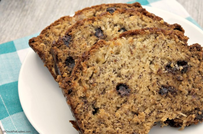 Crock-Pot Coconut Banana Bread