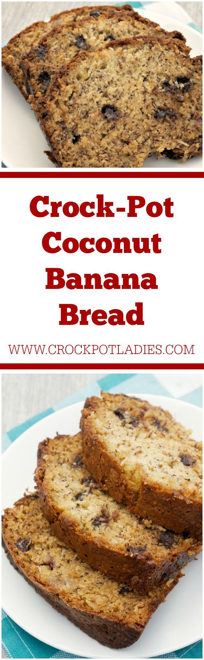 Crock-Pot Coconut Banana Bread