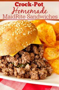 Crock-Pot Homemade MaidRite Sandwiches