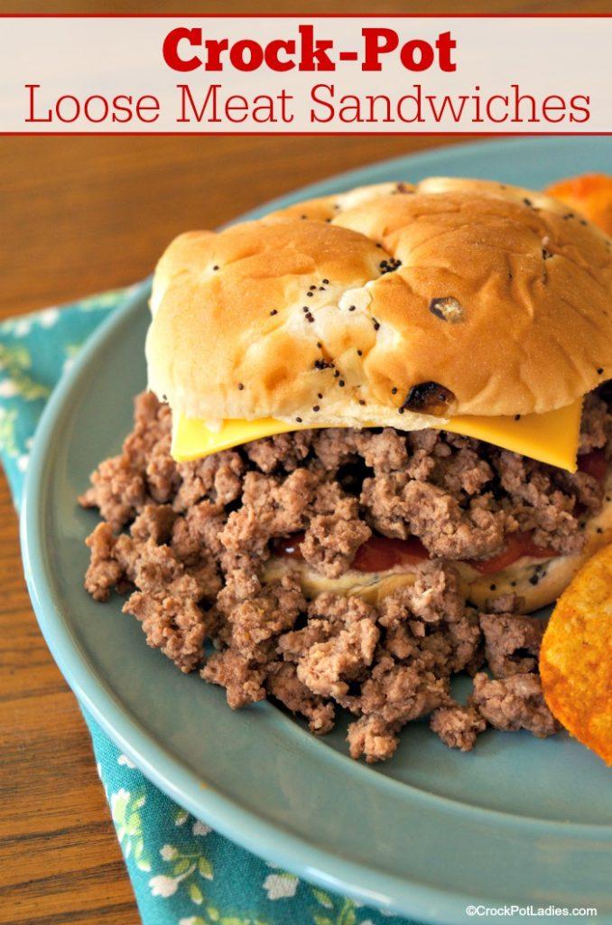 Crock-Pot Loose Meat Sandwiches