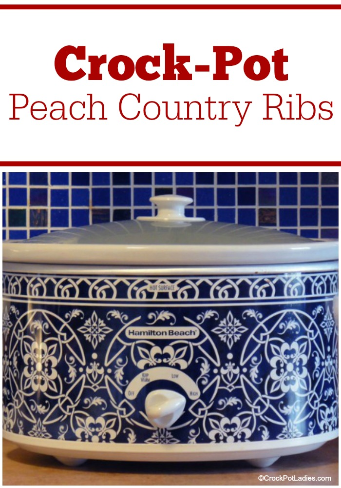 Crock-Pot Peach Country Ribs