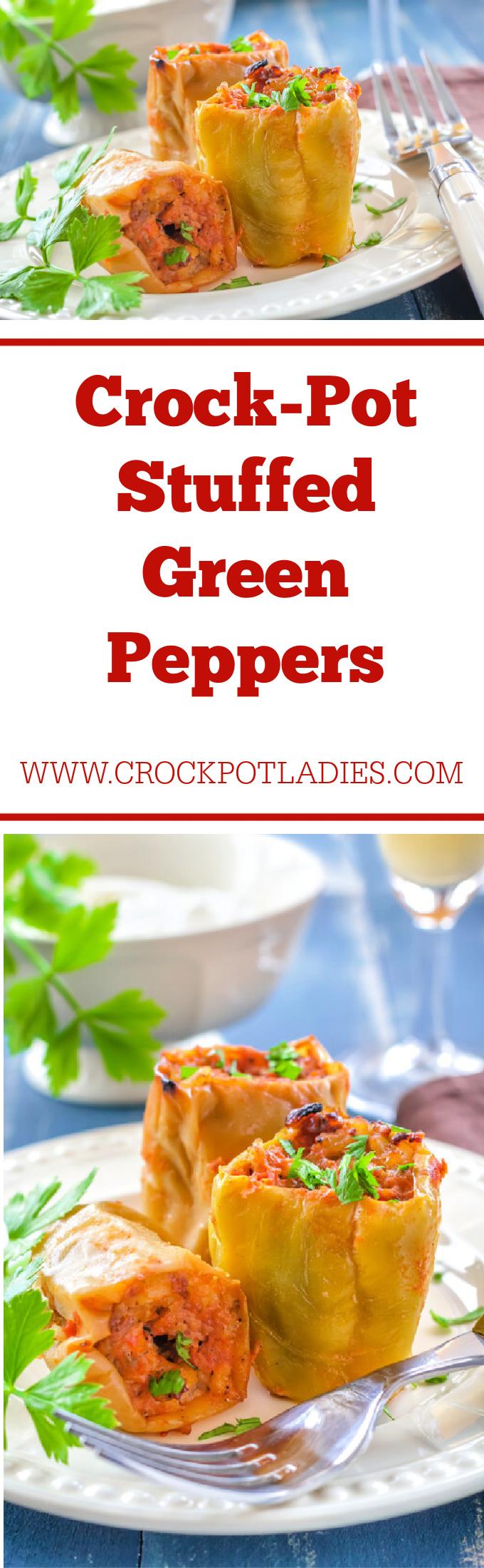 Crock-Pot Stuffed Green Peppers