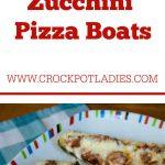 Crock-Pot Zucchini Pizza Boats
