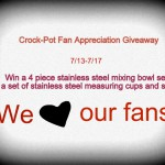 Crock-Pot Ladies Fan Appreciation Giveaway ~ Win Stainless Steel Bowl Set and Measuring Tools