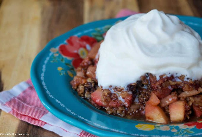 Crock-Pot Strawberry Apple Crumble