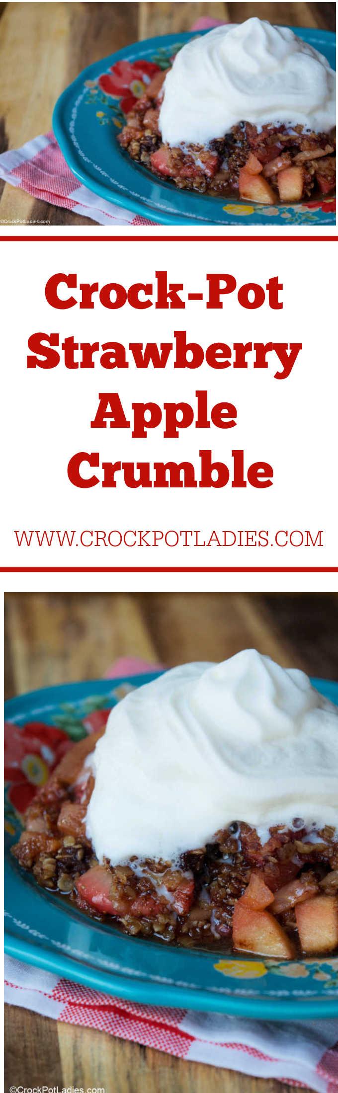 Crock-Pot Strawberry Apple Crumble