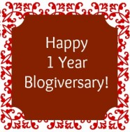 Happy 1 Year Blogiversary