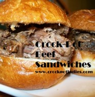 crock-pot beef sandwiches