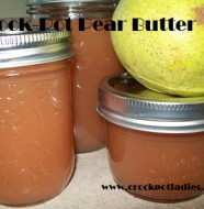 crock-pot pear butter