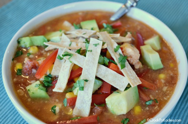 Crock-Pot Healthy Chicken Tortilla Soup
