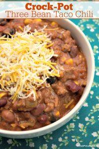Crock-Pot Three Bean Taco Chili