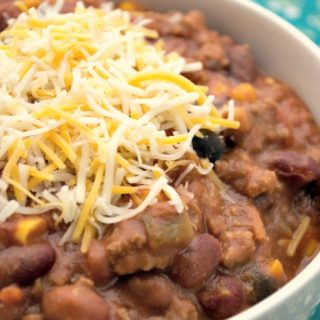 Crock-Pot Three Bean Taco Chili