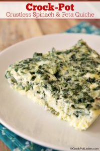 Crock-Pot Crustless Spinach & Feta Quiche