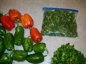 green peppers all 3