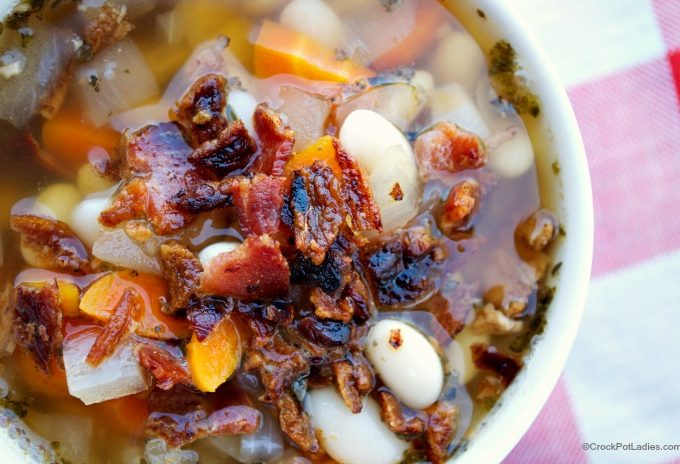 Crock-Pot Bacon & Bean Soup