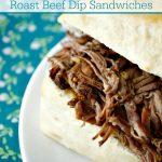 Crock-Pot Balsamic Roast Beef Dip Sandwiches