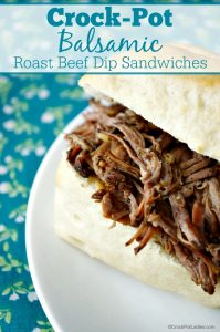 Crock-Pot Balsamic Roast Beef Dip Sandwiches