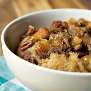 Crock-Pot Pecan Pie Bread Pudding