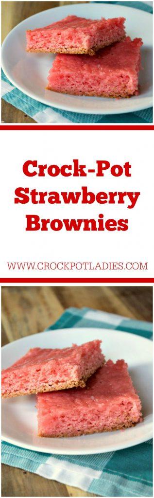 Crock-Pot Strawberry Brownies