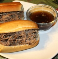 CrockPot Balsamic Roast Beef Dip Sandwiches