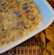 crock-pot queso sausage dip
